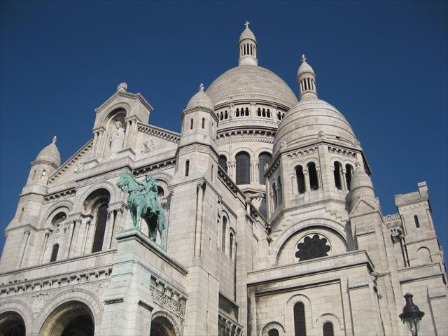 The Sacre Coeur, Paris on a sunny day